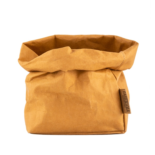 UASHMAMA Paper Bag Basic Medium   Camel