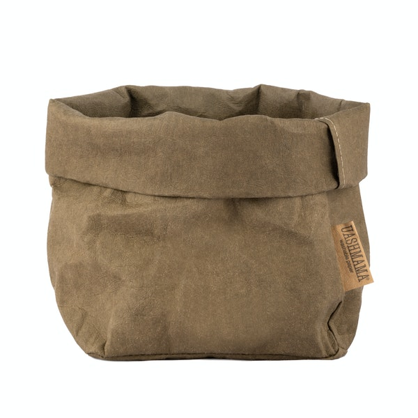 UASHMAMA Paper Bag Basic Medium   Olive