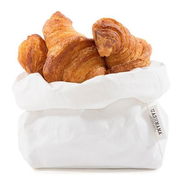 UASHMAMA Paper Bag Basic Medium   White