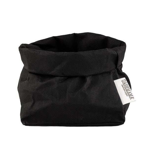 UASHMAMA Paper Bag Basic Medium   Black