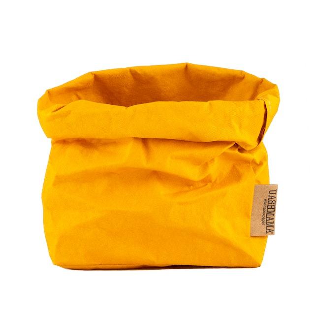 UASHMAMA Paper Bag Colored Medium  Senape