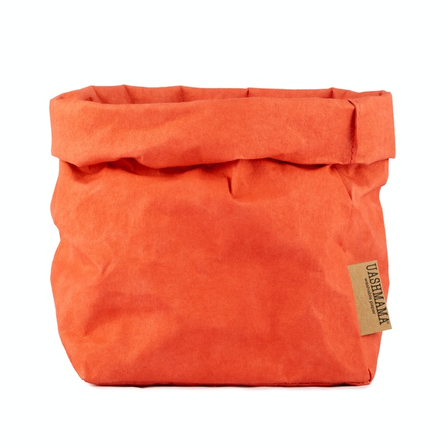 UASHMAMA Paper Bag Colored Medium  Corallo