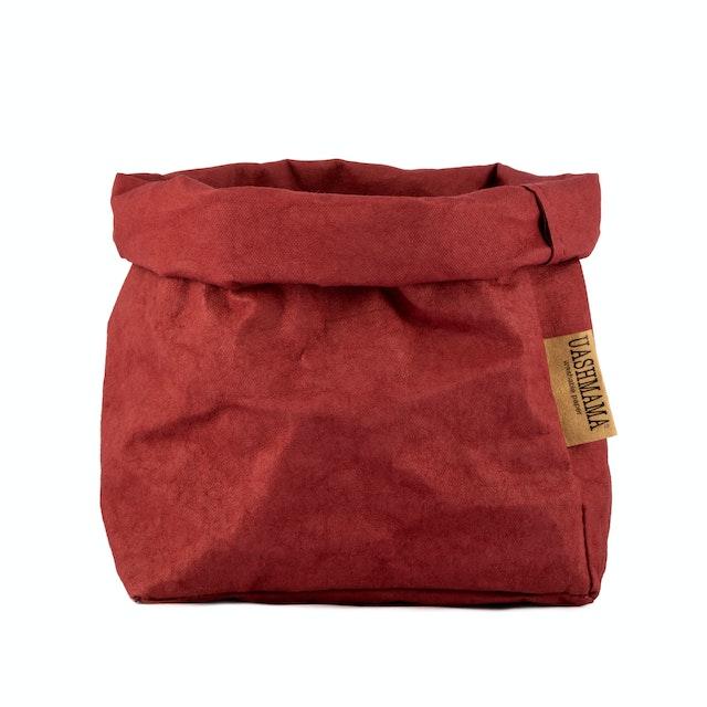 UASHMAMA Paper Bag Colored Medium  Bordeaux