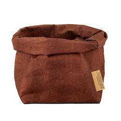 UASHMAMA Paper Bag Colored Medium  Cognac