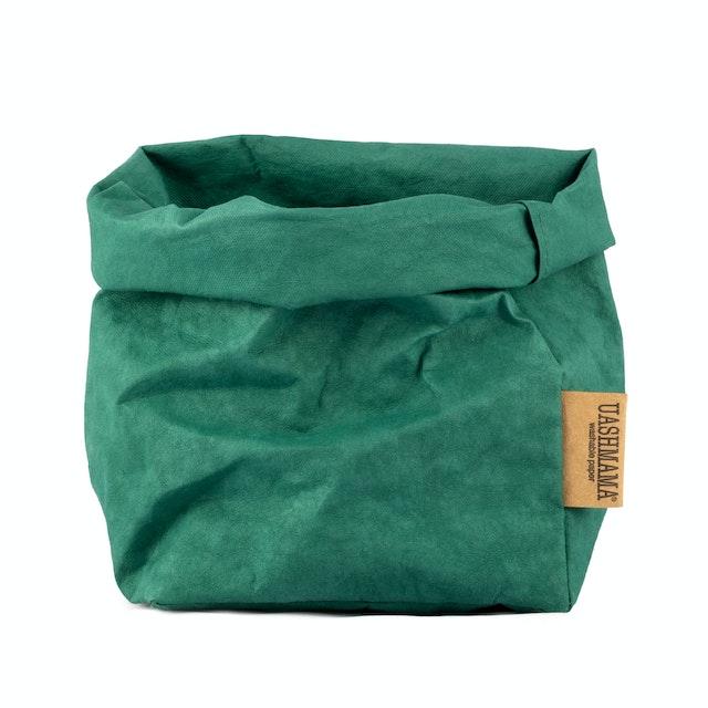 UASHMAMA Paper Bag Colored Medium  Smeraldo