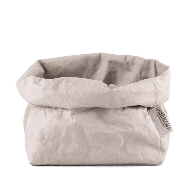 UASHMAMA Paper Bag Basic Large   Grey