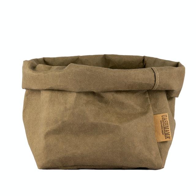 UASHMAMA Paper Bag Basic Large   Olive