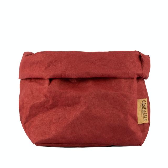 UASHMAMA Paper Bag Colored Large Bordeaux