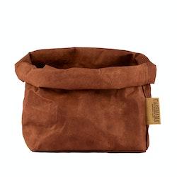 UASHMAMA Paper Bag Colored Large Cognac