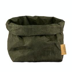 UASHMAMA Paper Bag Colored Large Dark Green