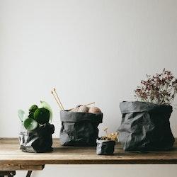 UASHMAMA Paper Bag Colored Large Dark Grey