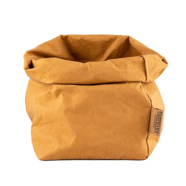 UASHMAMA Paper Bag  Basic Large Plus  Camel