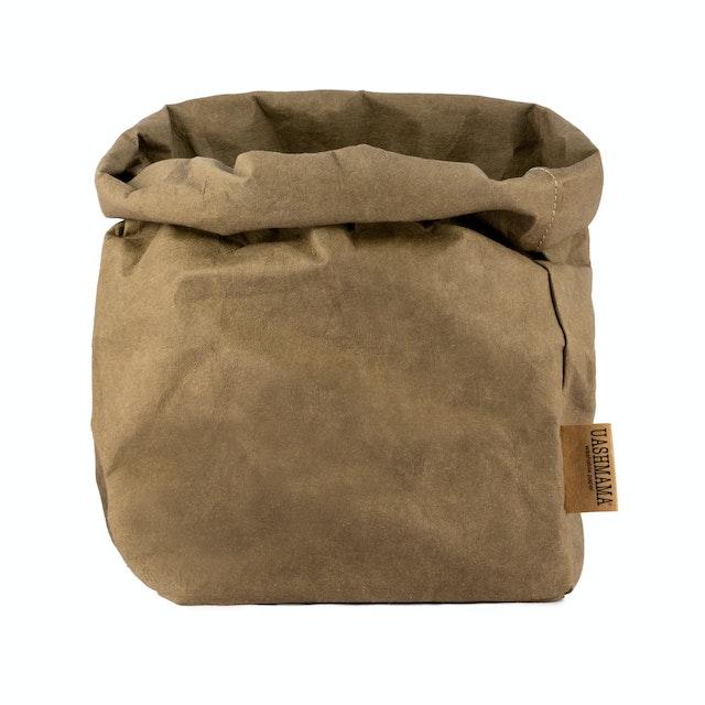 UASHMAMA Paper Bag  Basic Large Plus  Olive