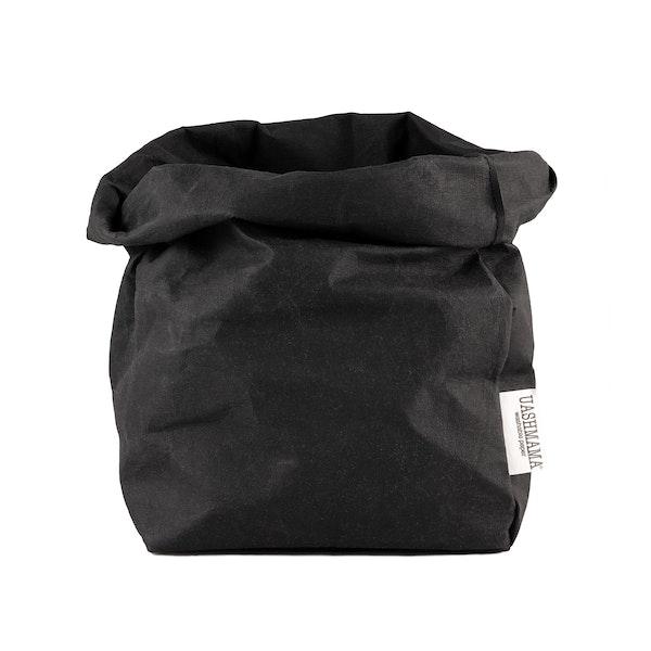 UASHMAMA Paper Bag  Basic Large Plus  Black
