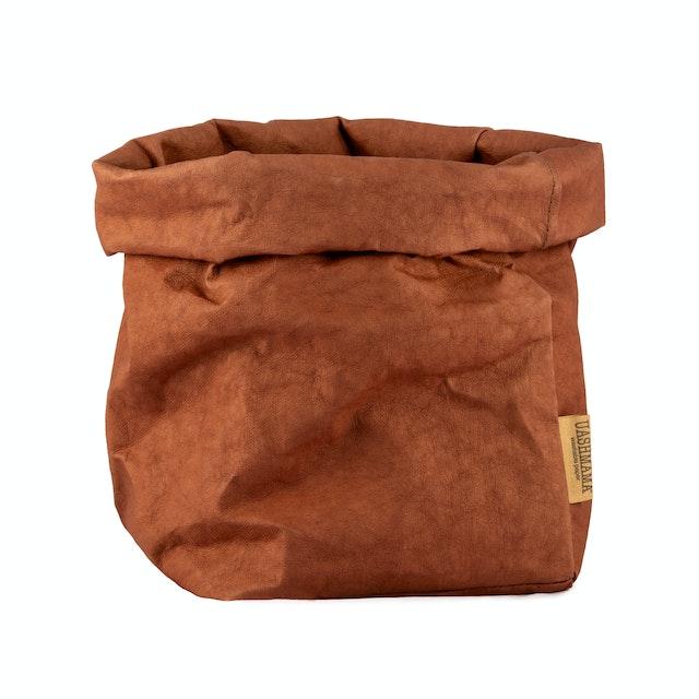 UASHMAMA Paper Bag Colored Large Plus Cognac
