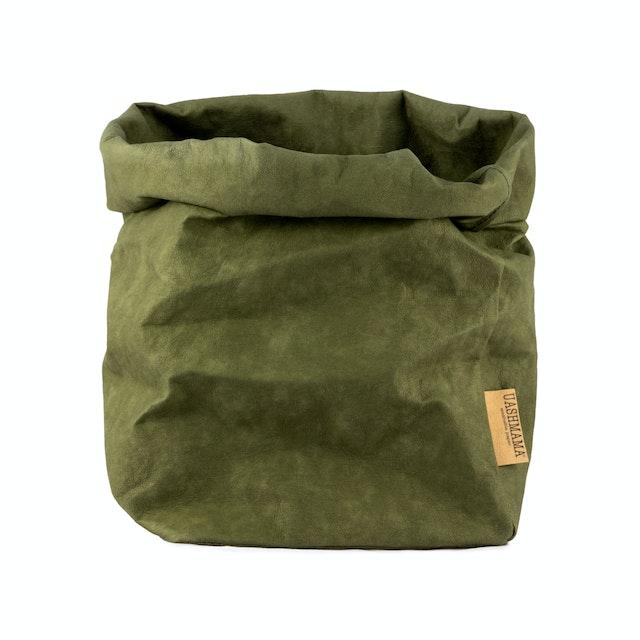 UASHMAMA Paper Bag Colored Large Plus Forest