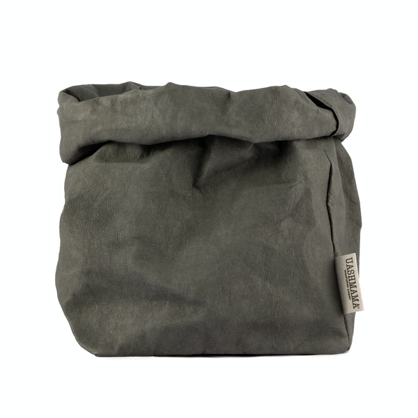 UASHMAMA Paper Bag Colored Large Plus Dark Grey