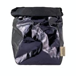 UASHMAMA Paper Bag Metallic Large Plus  Blue/Petrolio