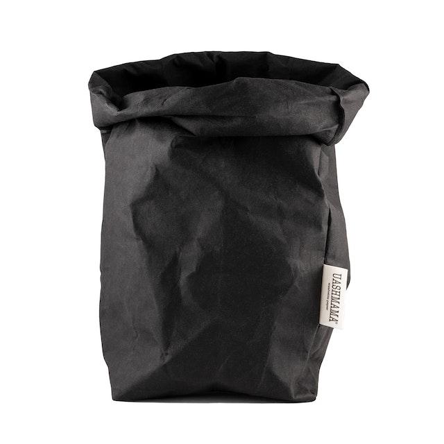 UASHMAMA Paper Bag Basic Extra Large Black