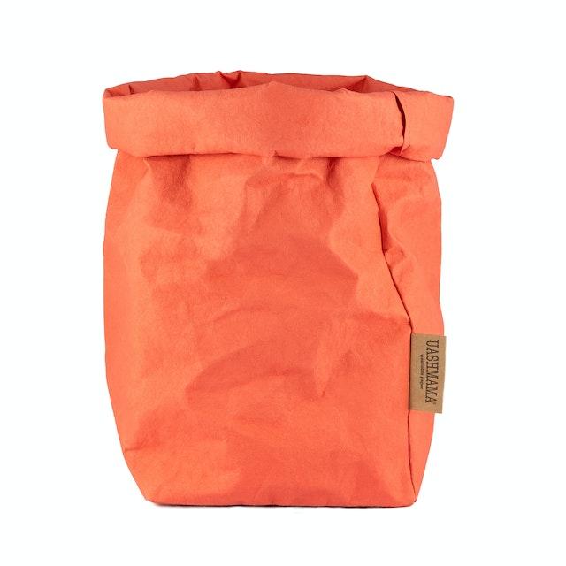 UASHMAMA Paper Bag Colored Extra Large Corallo