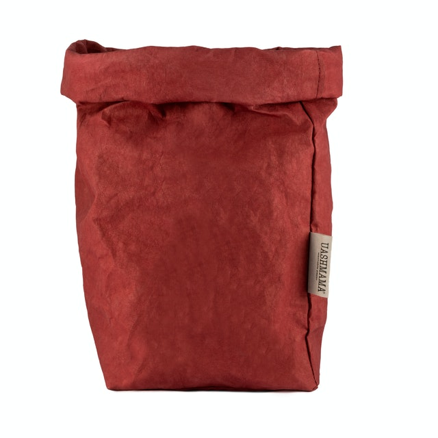 UASHMAMA Paper Bag Colored Extra Large Bordeaux