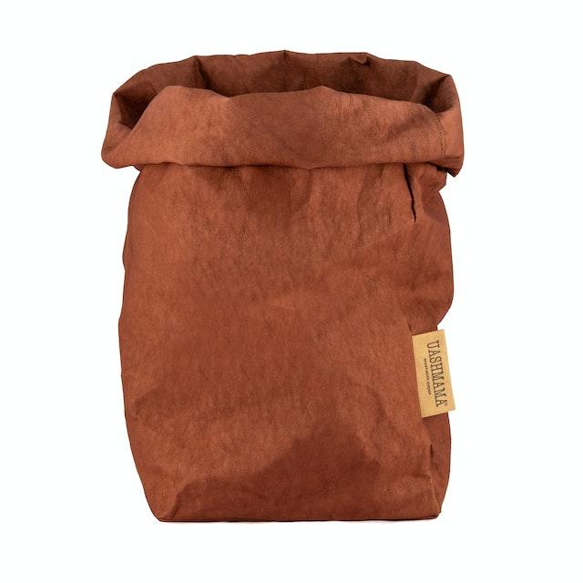 UASHMAMA Paper Bag Colored Extra Large Cognac