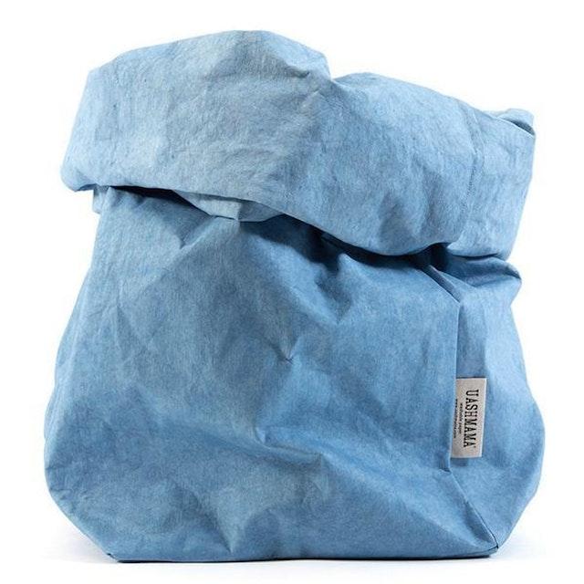 UASHMAMA Paper Bag Colored Extra Large Indaco