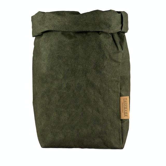 UASHMAMA Paper Bag Colored Extra Large Dark Green