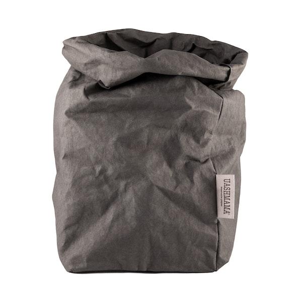 UASHMAMA Paper Bag Colored Extra Large Dark Grey
