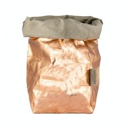 UASHMAMA Paper Bag Metallic Extra Large Sabbia/Rosato