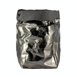 UASHMAMA Paper Bag Metallic Extra Large Dark Grey/Peltro