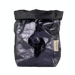 UASHMAMA Paper Bag Metallic Extra Large Blue/Petrolio