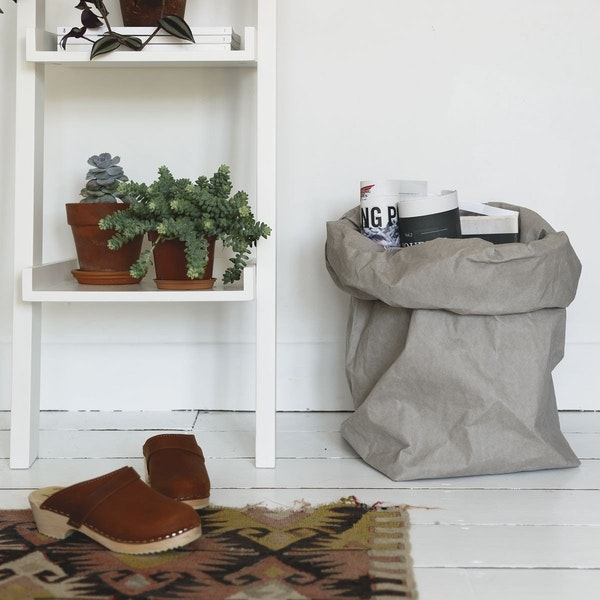 UASHMAMA Paper Bag Basic XXLarge Grey