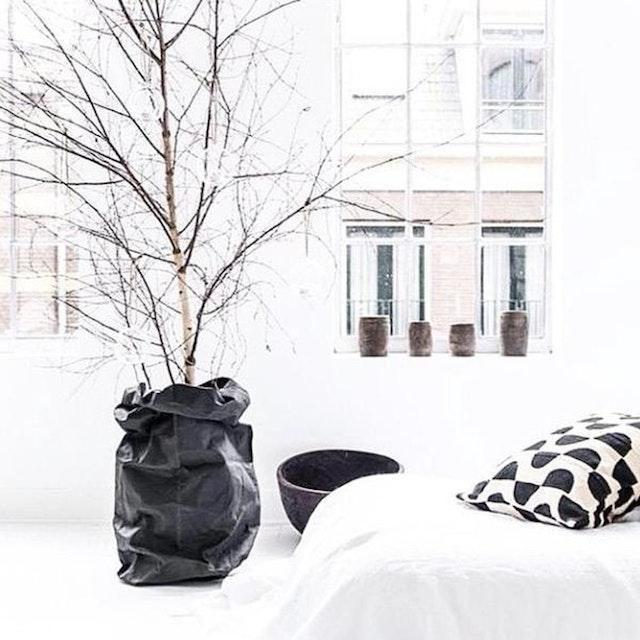 UASHMAMA Paper Bag Basic XXLarge Black