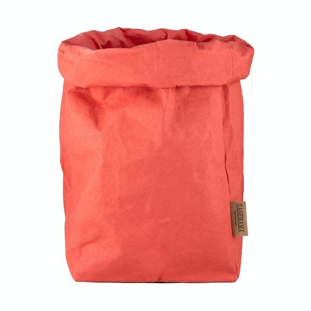 UASHMAMA Paper Bag Colored XXLarge   Corallo