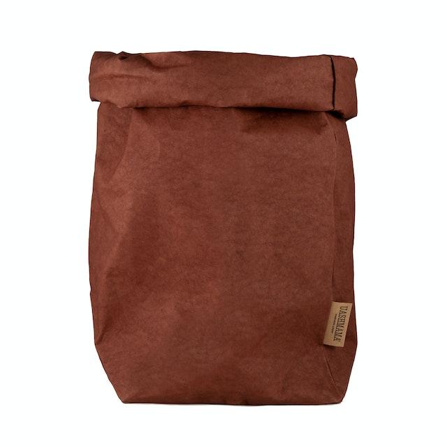 UASHMAMA Paper Bag Colored XXLarge   Cognac