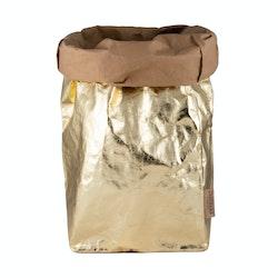 UASHMAMA Paper Bag Metallic XXLarge  Avana/Gold