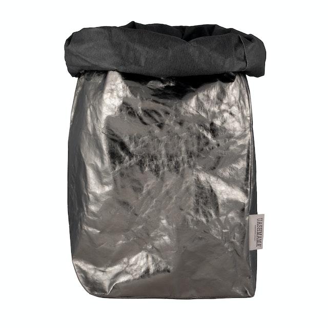 UASHMAMA Paper Bag Metallic XXLarge Dark Grey/Peltro
