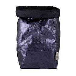 UASHMAMA Paper Bag Metallic XXLarge Blue/Petrolio