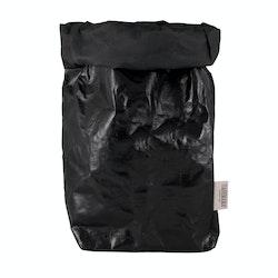 UASHMAMA Paper Bag Metallic XXLarge Metallic Black