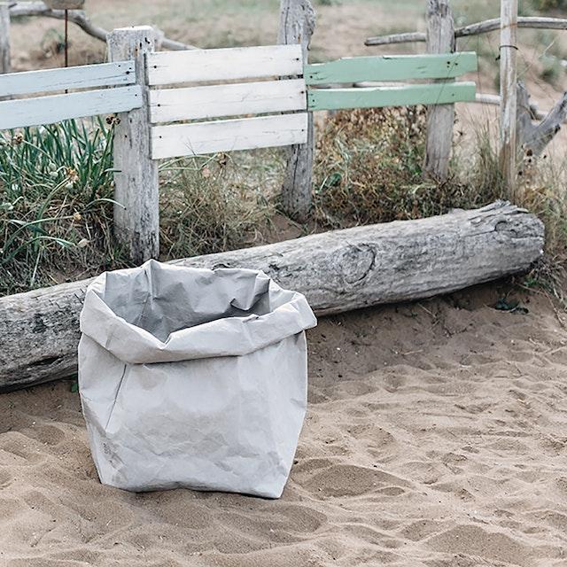 UASHMAMA Paper Bag Basic Gigante Grey