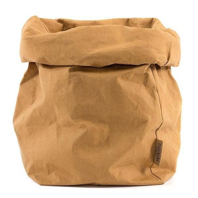 UASHMAMA Paper Bag Basic Gigante Camel