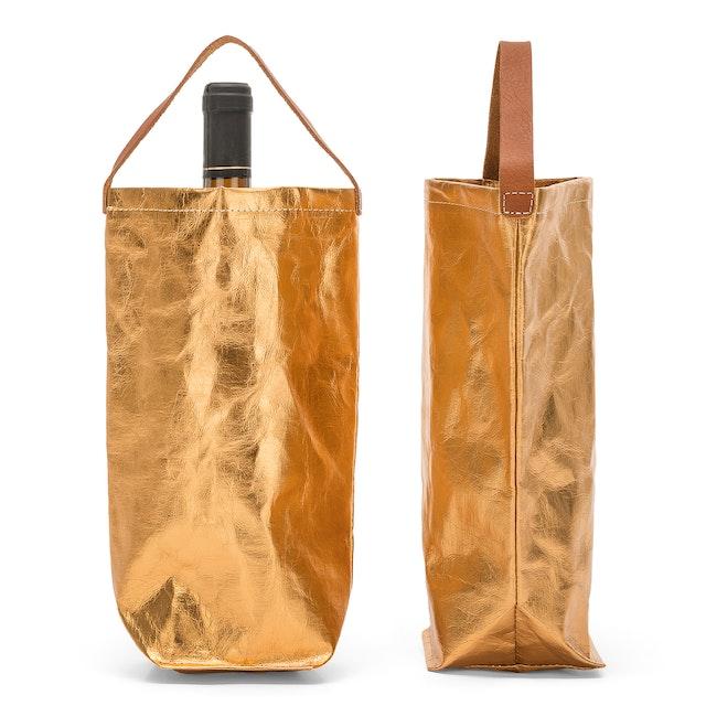 UASHMAMA Wine Bag Metallic Metallic Napoli