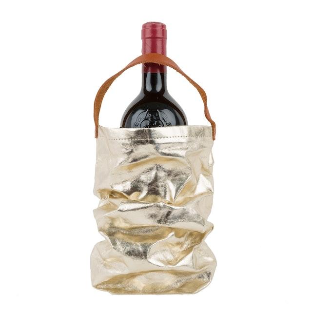 UASHMAMA Wine Bag Metallic Metallic Platinum