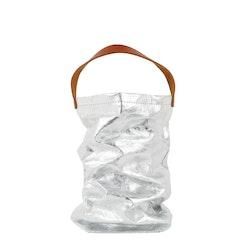 UASHMAMA Wine Bag Metallic Metallic Silver