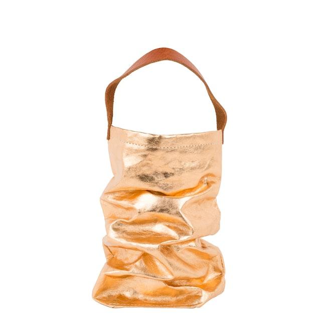 UASHMAMA Wine Bag Metallic Metallic Rose