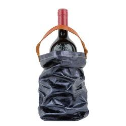 UASHMAMA Wine Bag Metallic Metallic Petrolio