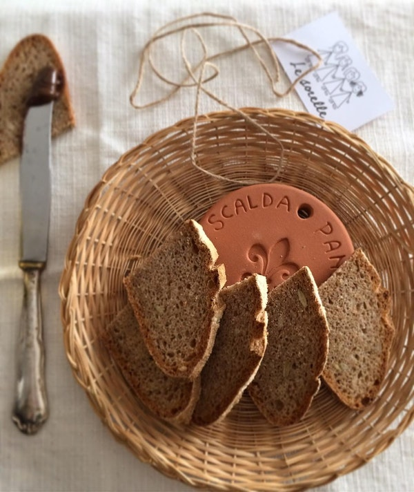 UASHMAMA Scaldapane Terracotta Hearth Terracotta