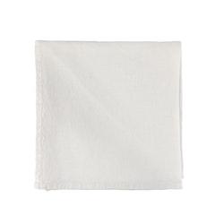 UASHMAMA Plain Napkin Linen White