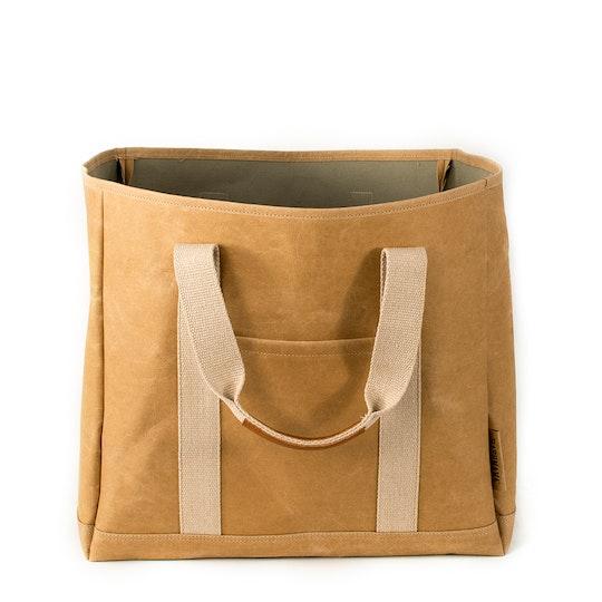 UASHMAMA Wood Bag Small Avana